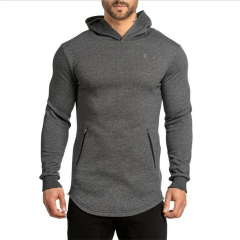 2017 gyms Hoodie Clothes Bodybuilding Sweatshirt Warm Clothing Shark zipper conventional Cotton Sweatshirts Cheap Pullover