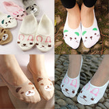 2017 Cute Spring Socks Cat Rabbit Bear Women Summer Socks Animal Prints Funny Low Cut Ankle Socks For Maternity Sock