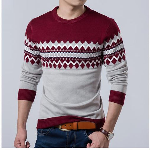 2017 New Autumn Fashion Brand Casual Sweater O-Neck Slim Fit Knitting Mens Sweaters And Pullovers Men Pullover Men XXL