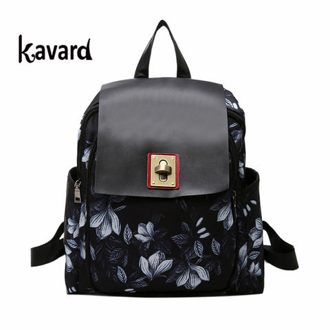 2017 Floral School Bags For Teenagers kavard backpack women Mochilas Femininas mujer luxury brand bagpack Travel back bag pack
