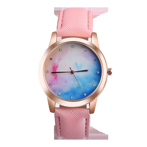 2017 Fashion New Women Watch Retro Rainbow Design Leather Band Analog Alloy Quartz Wrist Watch vintage leather watches