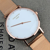 2017 New Famous Brand Rose gold Casual Quartz Watch Women Watches Metal Mesh Stainless Steel Dress Relogio Feminino Clock
