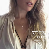 Free shipping! fashion jewelry sexy simple tassel double chain necklace jewelry accessory hand blockbuster star fringed necklace