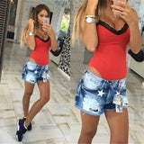 2017 Autumn Rompers women Jumpsuits Sexy stitching Patchwork V-neck sling 1-piece Fashion Lace Romper Skinny Bodysuits For Women