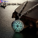 2016 new arrival women FIRE Necklace Pendant Charm Locket Luminous Wicca Goth Choker vintage chain retro jewellery ornamentation