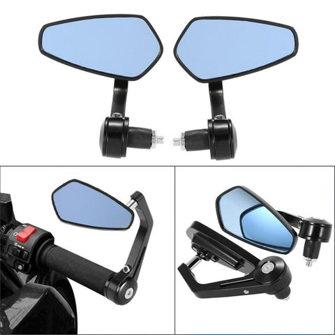 "2 Pieces Adjustable Motorcycle Handlebar Rear View Mirror Reflector Mirror with Metal Bracket for 7/8"" Handlebar Accessories Hot"