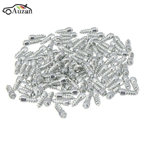 100pcs 12mm Universal Car Wheel Tyre Snow Spikes Studs Tires Anti-Slip Screw Stud Trim for Auto SUV ATV Truck Motorcycle