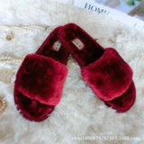 2017 New 7 Colors Spring Summer Autumn Winter Home Cotton Plush Slippers Women Indoor\ Floor Flat Shoes Free Shipping