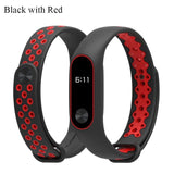 2017 Newest Hot sale Double color Miband 2 Strap Breathable Waterproof sweat Mi 2 Band TPU Replacement wriststrap for xiaomi mi2