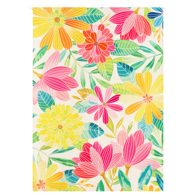 Colorful Floral Doorway Curtain