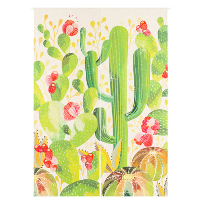 Floral Cactus Doorway Curtain