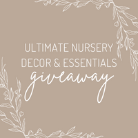 25th Oct / Nursery Decor & Essentials Giveaway