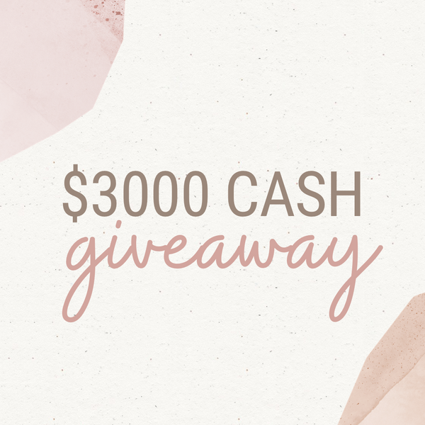 13th Sep / $3000 Cash Giveaway