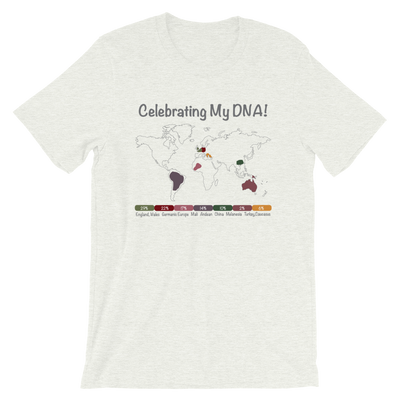 Personalized DNA Results T-shirt / Earth Tones / Unisex