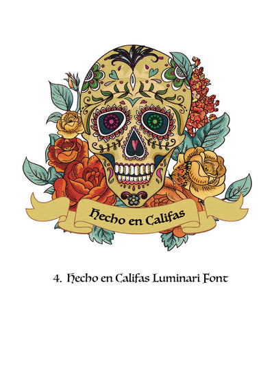UniSex Day of the Dead T shirt w/ Headline Options
