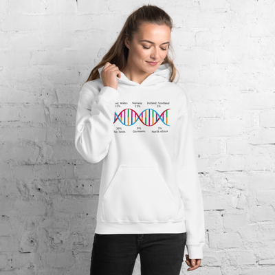 Personalized DNA Results Hoodie Helix / Unisex