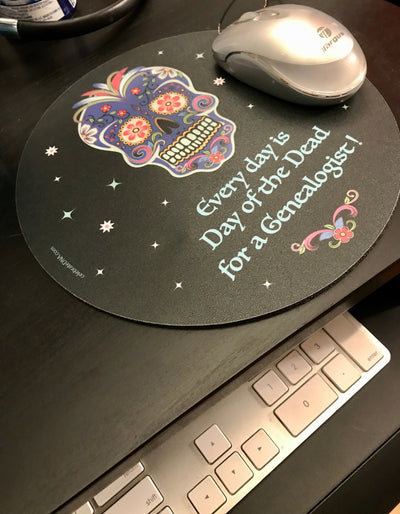 Day of the Dead Genealogy Mouse Pad