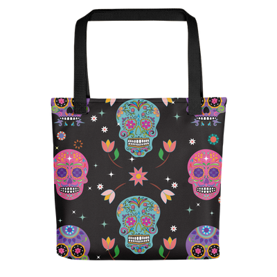 Genealogist 'Day of the Dead' Tote with multiple sugar skulls