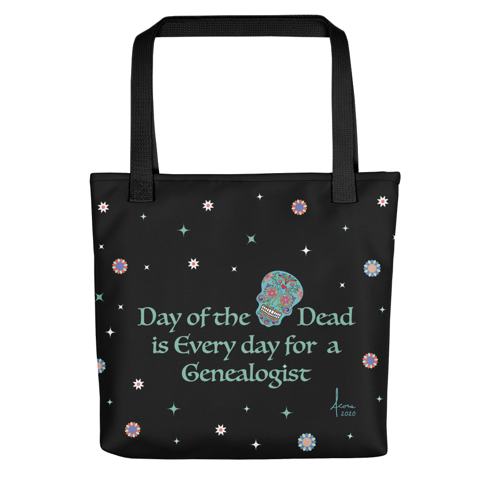 Genealogy 'Day of the Dead' Tote / Single Skull
