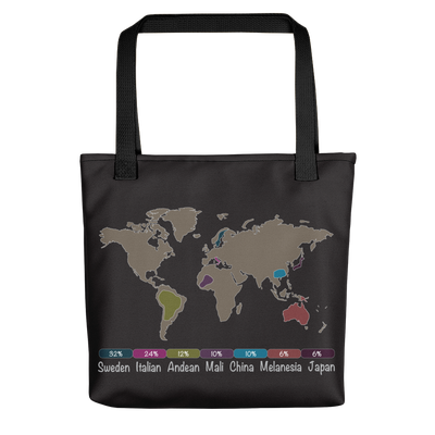 Personalized DNA Results Tote Bag / Black