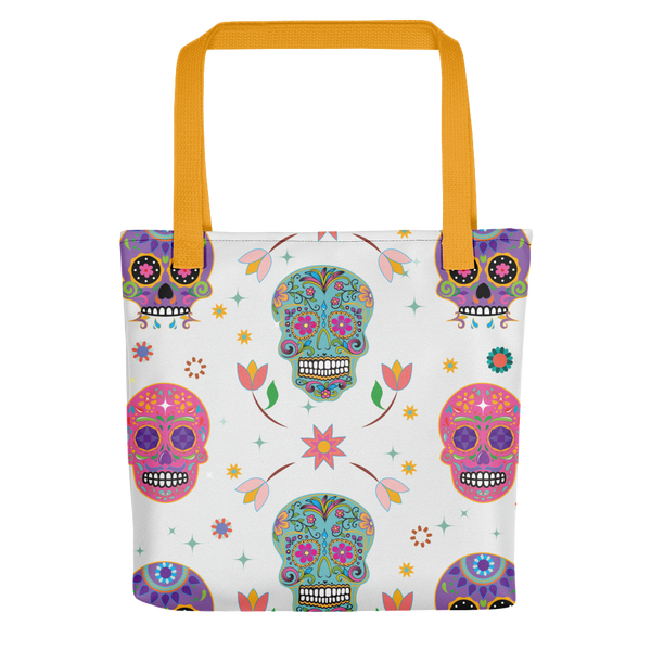 'Day of the Dead' Tote Bag (White)