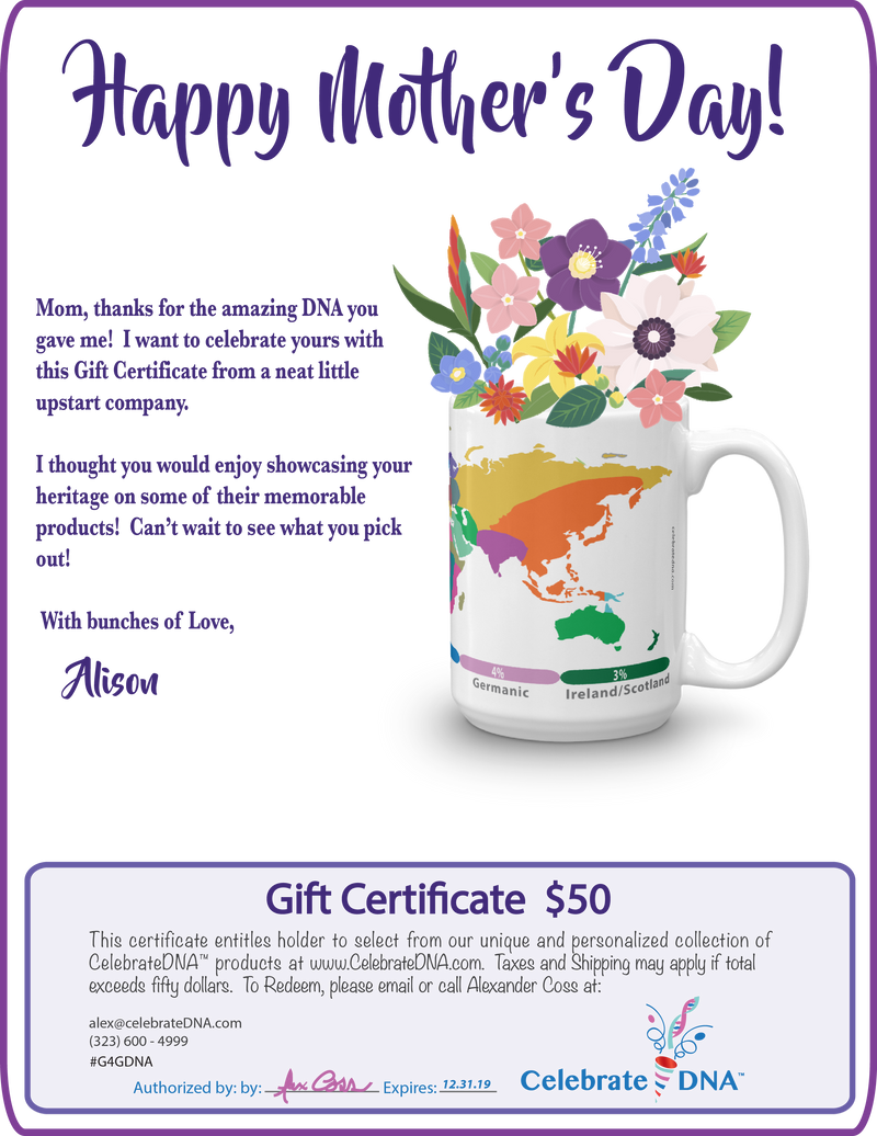Mother's Day Electronic Gift Certificate