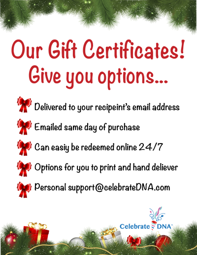 Personalized CelebrateDNA™ Gift Certificates