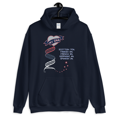 "Personalized ""I Love my DNA"" Test Results Hoodie / Various Colors"