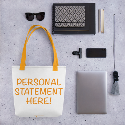 Personalized DNA Results Tote Bag / Saffron Handles