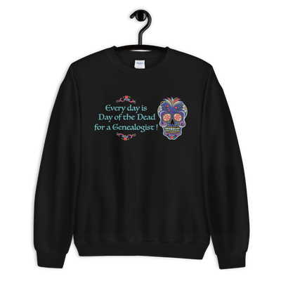Genealogy Day of the Dead Sweatshirt
