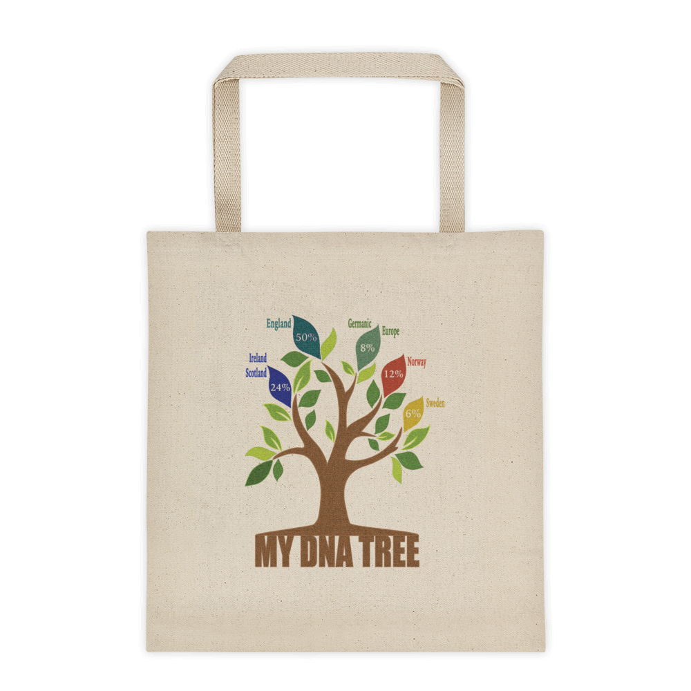 Personalized DNA Tree Tote / Maya Angelou Quote