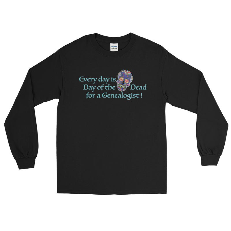 Day of the Dead Genealogy Long Sleeve T-Shirt