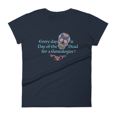 Women's short sleeve t-shirt / Every day is Day of the Dead Tee