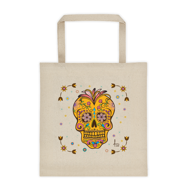 Day of the Dead Tote / Natural Canvas