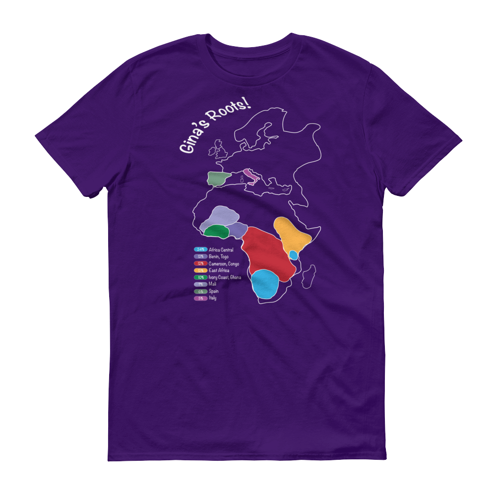 DNA Test Results Africa, Europe Map Tee