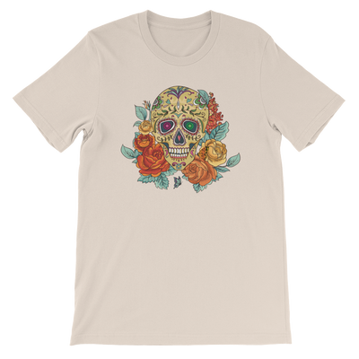 """Butterfly"" Day of the Dead Skull T-shirt / UniSex"