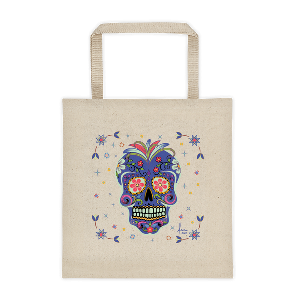 Day of the Dead Tote bag / Indigo