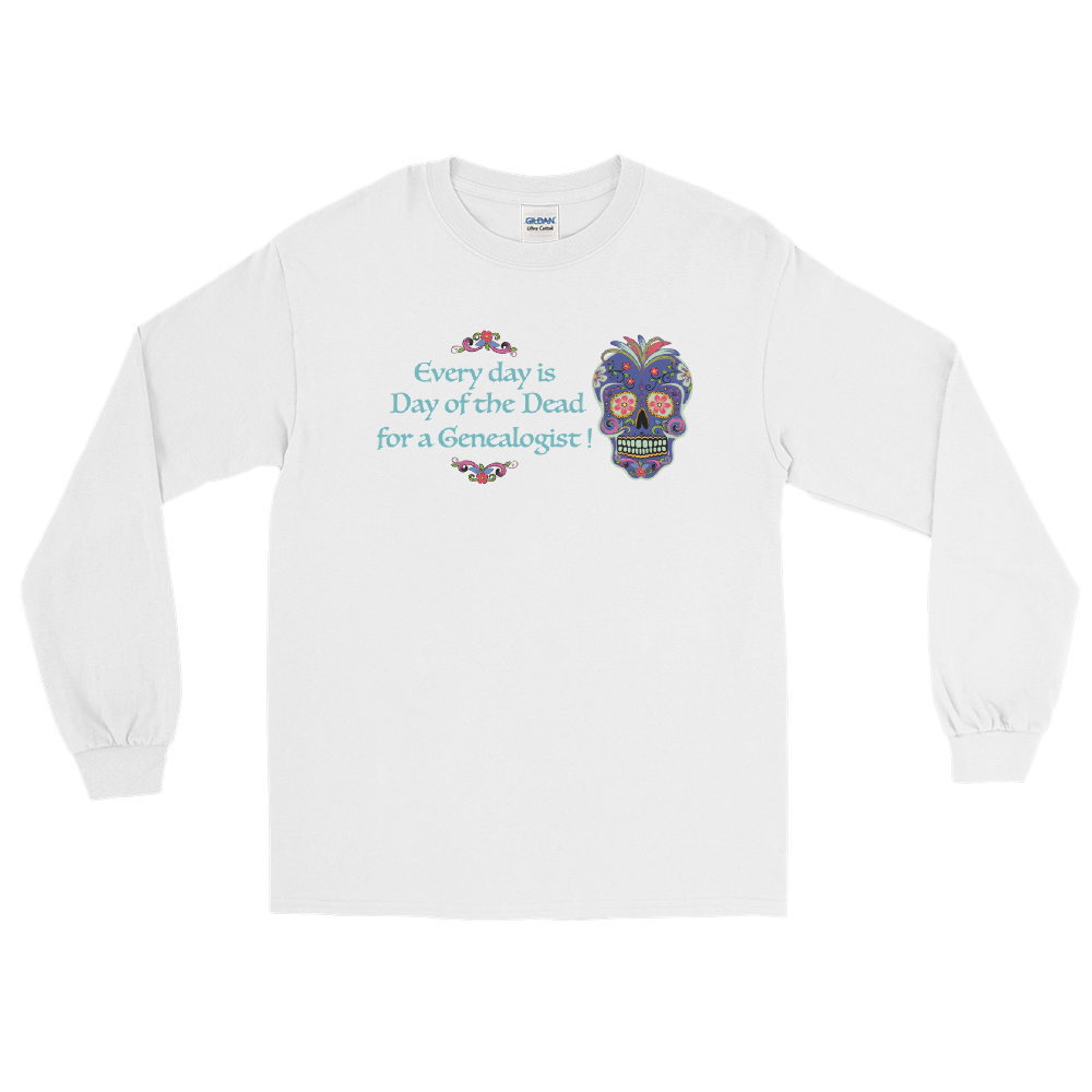 Genealogy Day of the Dead Long Sleeve T-Shirt