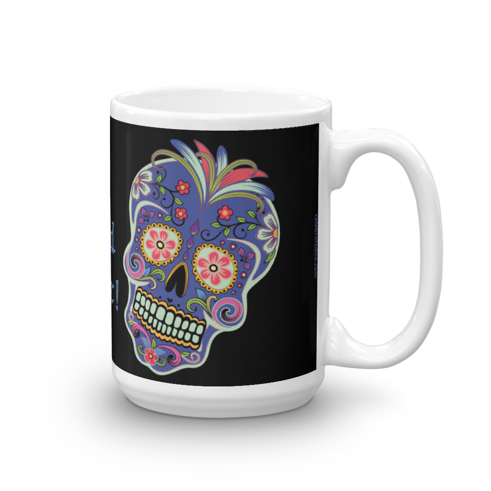 Day of the Dead Black Genealogy Mug