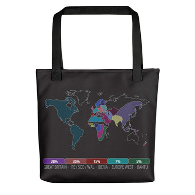 DNA Map Tote Bag / Black