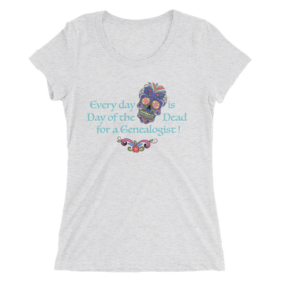 Ladies' scoop tee / Every Day is Day of the Dead Tee