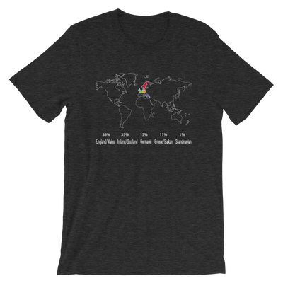 DNA Test Results Map T-shirt