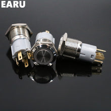 16mm Latching Stainless Steel Button Switch with LED