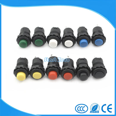 10pcs 12mm Latching Button Switch