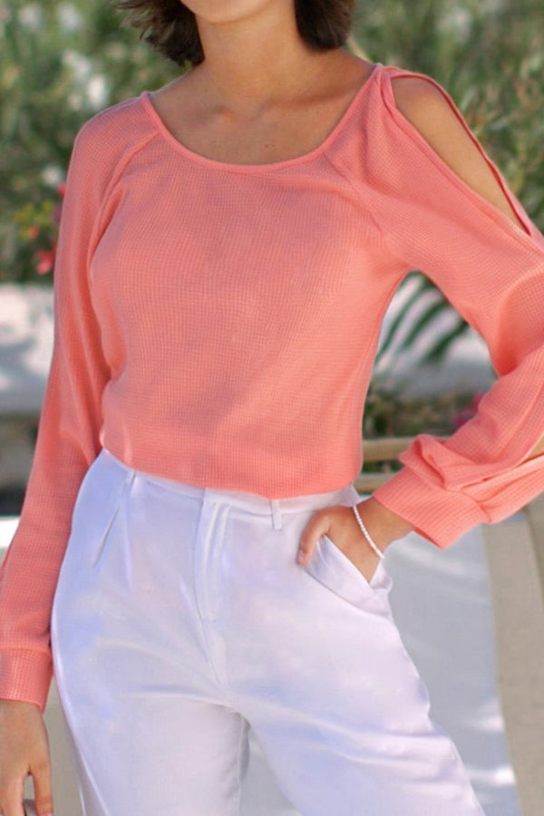 Pink kalter Schulter Top