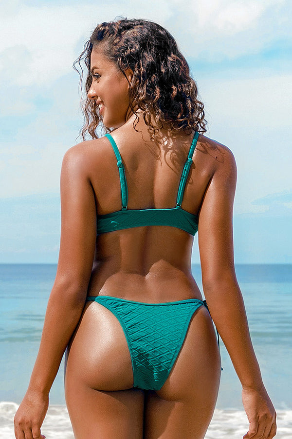 Bikini-Set mit O-Ring in Wasserblau