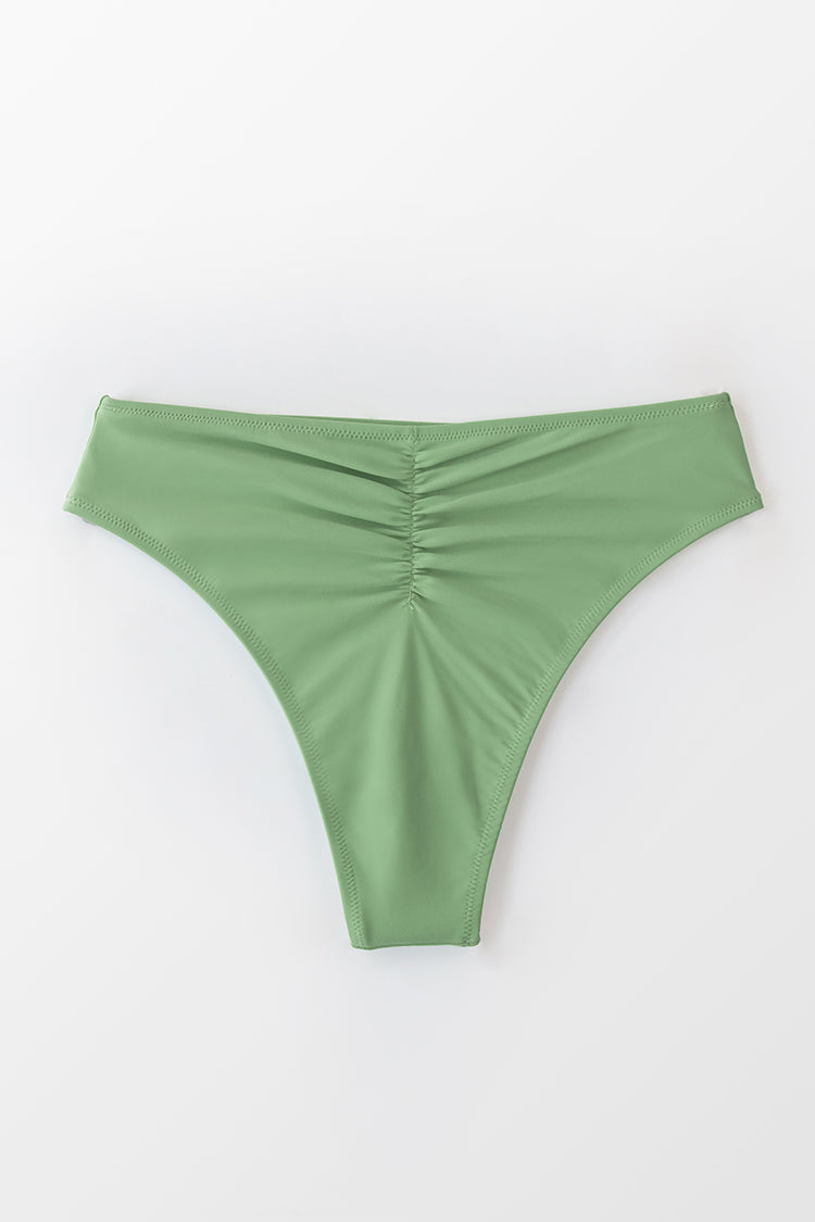 High Waisted Bikini-Hose in Grün Cupshe