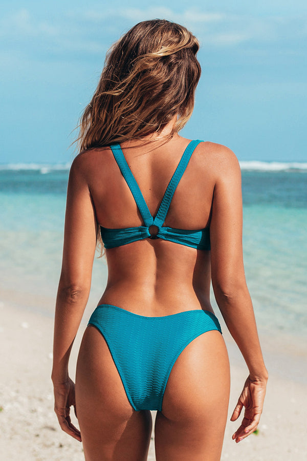 Stilvoller Bikini-Set mit O-Ring in Blau