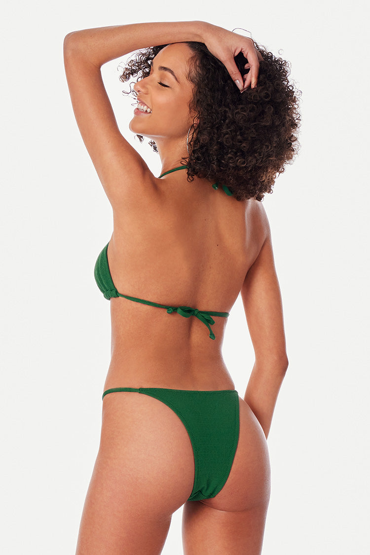 String Bikini-Set in Grün Cupshe