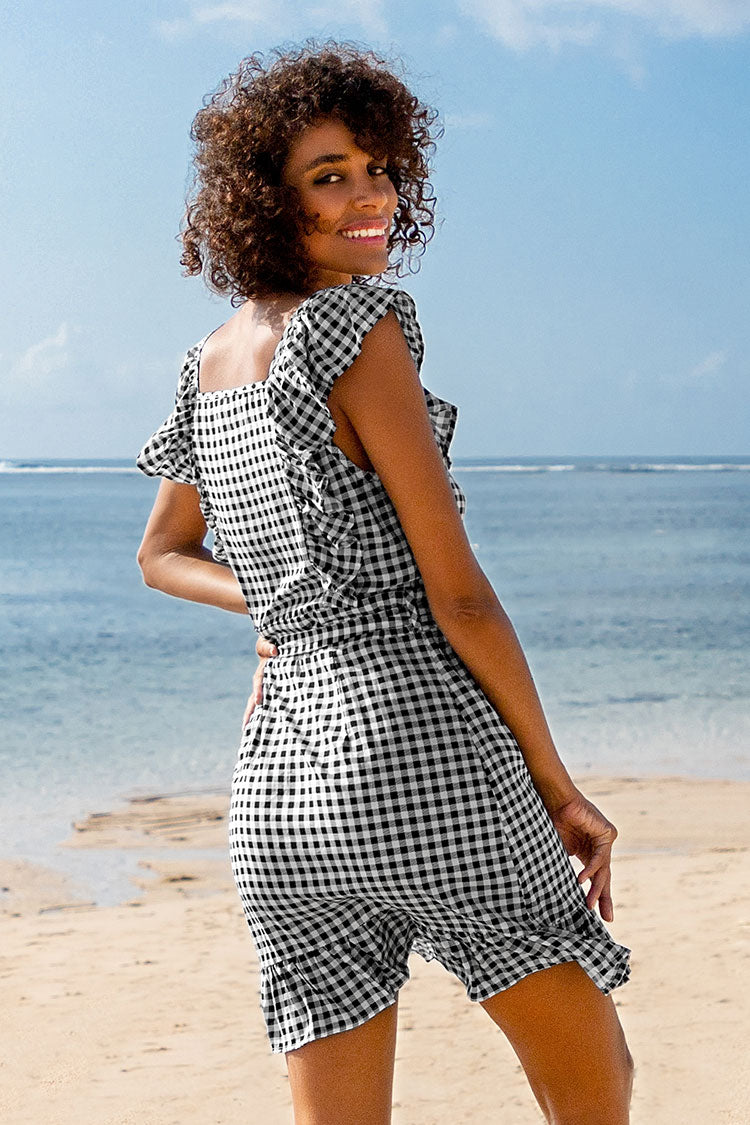 Kleid mit Gingham-Muster Cupshe